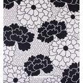 No Sew Fleece Throw 72\u0022-Black and White Floral