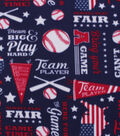 Blizzard Fleece Fabric-All Star Team Player
