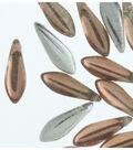 Strung Beads-Peach Dagger 5X16mm Backlit
