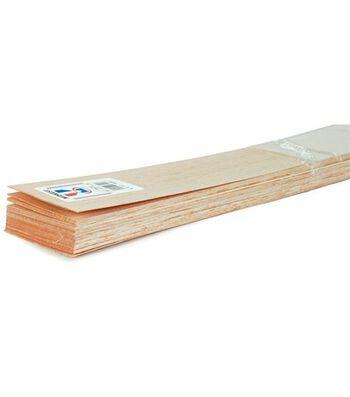 """Balsa Wood 36"""" Sheets-20PK/1/8""""X1"""""""