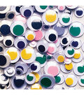 Paste-On Wiggle Eyes Assorted 7mm to 15mm 100/Pkg-Assorted Colors