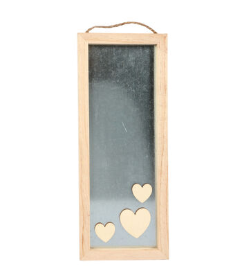 Valentine's Day Craft Wood & Metal Rectangle Frame
