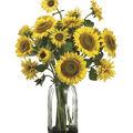 Bloom Room Luxe 30\u0027\u0027 Sunflower In Glass-Yellow
