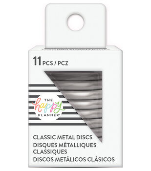 The Happy Planner Classic Medium Metal Discs-Silver