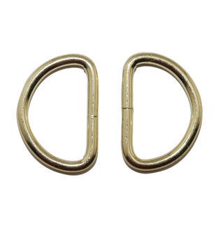 """Everything Mary Gold 1.5"""" D-Rings-2pk"""