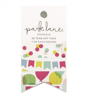 Park Lane Paperie 28 pk Tear off Tags-Birthday