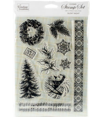 """Couture Creations Let Every Day Be Christmas Stamp-Silent Night 5""""X7"""""""