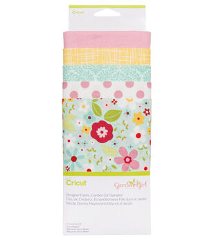 Cricut Designer Fabric Sampler-Garden Girl
