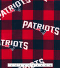 New England Patriots Fleece Fabric -Buffalo Plaid