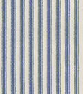 Waverly Upholstery Fabric 13x13\u0022 Swatch-Classic Ticking Vintage Ink