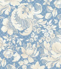P/K Lifestyles Upholstery 8x8 Fabric Swatch-Distinctly Damask/Porcelain
