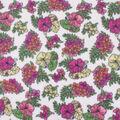 Blizzard Fleece Fabric-Botanical Floral