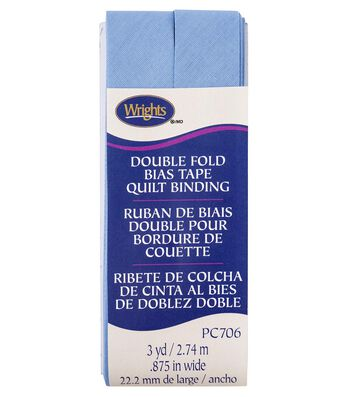 Wrights Double Fold Quilt Binding Bias Tape 7/8''x3 yds-Delft