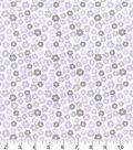 Nursery Flannel Fabric 42\u0022-Lilac Ditzy Floral