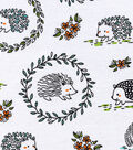 Snuggle Flannel Fabric -Woodland Hedgehogs