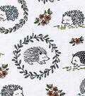 Snuggle Flannel Fabric 42\u0027\u0027-Woodland Hedgehogs