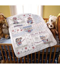 Bucilla-Baseball Buddies Crib Cover Stamped Cross Stitch Kit-34 X43