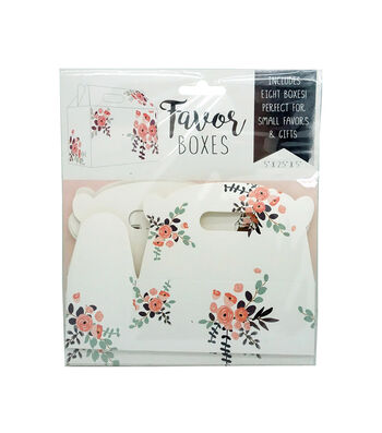 Floral Favor Box-Set of 8