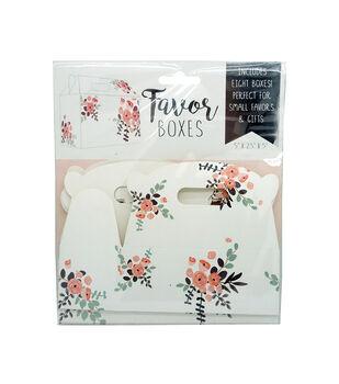 Floral Favor Box-Set of 8