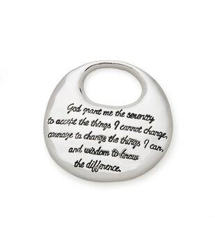 Silver Pendant with Serenity Prayer