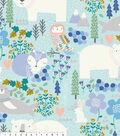 No Sew Fleece Throw 48\u0022-Animals On Blue