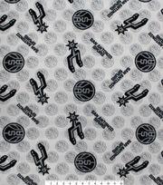 San Antonio Spurs Fleece Fabric-Tossed Logos, , hi-res