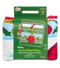 The Grinch No-Sew Fleece Throw 48\u0022-Merry Grinchmas