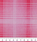 Fleece Fabric-Pink Mica Plaid