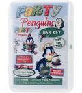 Debbi Moore USB Key Compendium Paper Craft Collection-Party Penguins