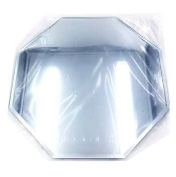 "12"" Octagon Glass Mirror W/Bevel Edge"