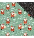 My Mind\u0027s Eye Oh What Fun! 25 pk 12\u0027\u0027x12\u0027\u0027 Double-sided Cardstock-Santa