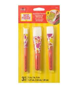 Mod Podge Short Handle 3 Pack Brush Set