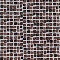 Keepsake Calico Cotton Fabric-Brown Spaced Tiles