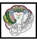 Design Works Zenbroidery Stamped Picture Kit-Elephant