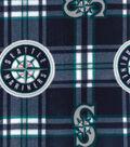 Seattle Mariners Fleece Fabric 58\u0022-Plaid