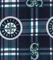 Seattle Mariners Fleece Fabric -Plaid, , hi-res