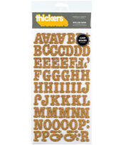 Thickers Chipboard Glitter Stickers-Roller Rink Alpha, , hi-res