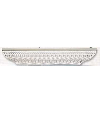 "Perforated Wood and Metal Shelf 30x5.9"" -White"