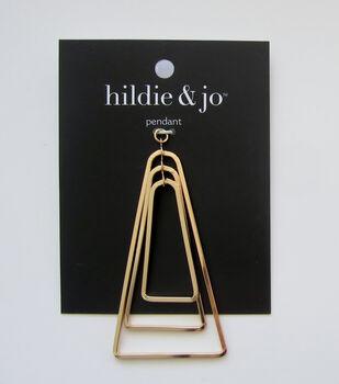 hildie & jo Triangle Pendant-Gold