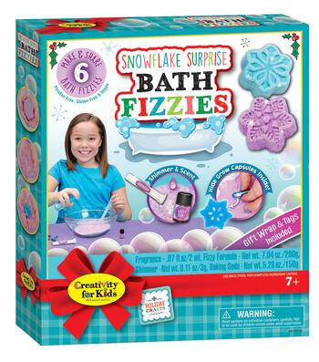 Creativity for Kids Snowflake Surprise Bath Fizzies