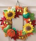Harvest Time Wreath Felt Applique Kit 15\u0022 Round