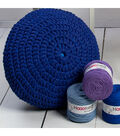 Hoooked Knit & Crochet Pouf Kit with Zpagetti Yarn-Burgundy Passion