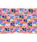 Snuggle Flannel Fabric 42\u0027\u0027-Traveling Postage Stamps
