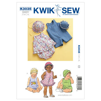 Kwik Sew Pattern K3035 Infants' Casual Outfits