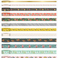 Park Lane Washi Tape Tube 13/Pkg-Animals