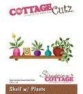 CottageCutz Die-Shelf W/Plants 3.9\u0022X1.9\u0022