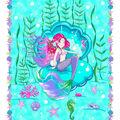 1 Yard Fabric Panel-Mermaid