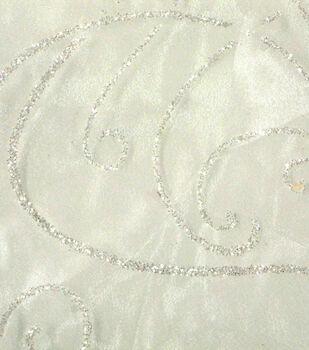 Glitterbug Organza Fabric -Snowstorm