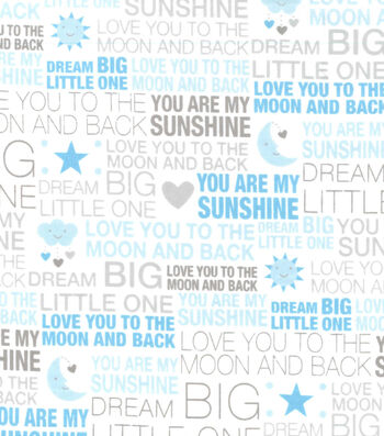 Nursery Flannel Fabric 42''-Love You To The Moon & Back