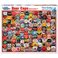 White Mountain Puzzles 550 Pieces Jigsaw Puzzle-Beer Bottle Caps